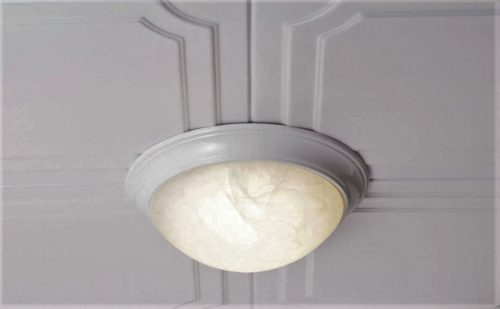 FEIT 73807 LED Flush Mount Ceiling Fixture with Alabaster Glass
