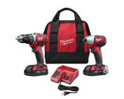 Milwaukee Imapct Drill Combo Kit with batteries and charger