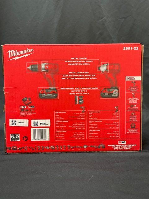Milwaukee Impact Drill Combo Kit Box back