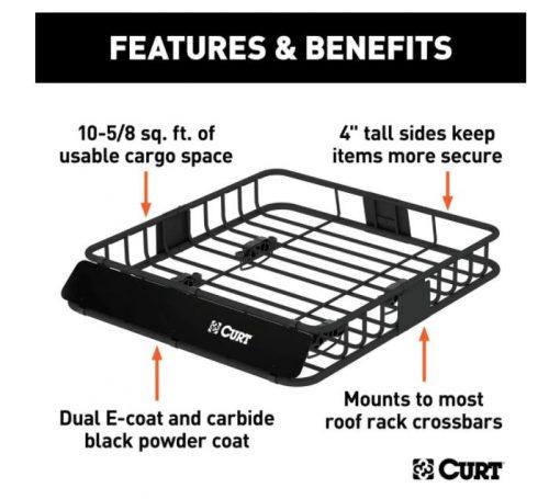 Curt 18115 Universal Roof Rack