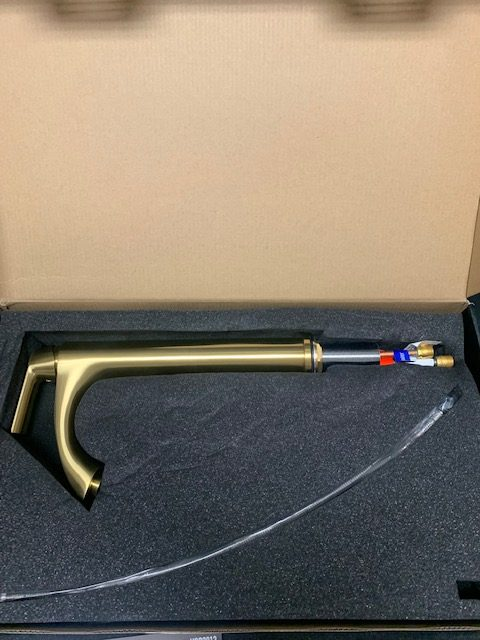 VIGO Linus Single Hole Vessel Bathroom Faucet in Matte Gold VG03013MG